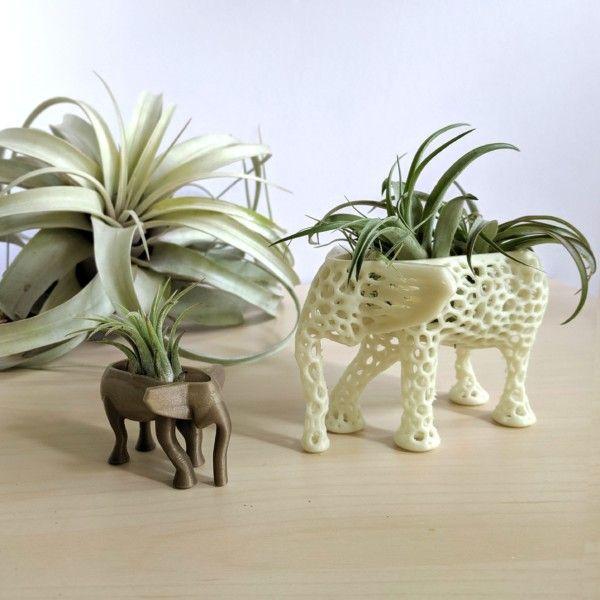 Medium Kokedama Elephant Planter for Hygge Home Cactus Planter, Elephant Air Plant Holder, Succulent Planter Animal Planter Air Plant Holder