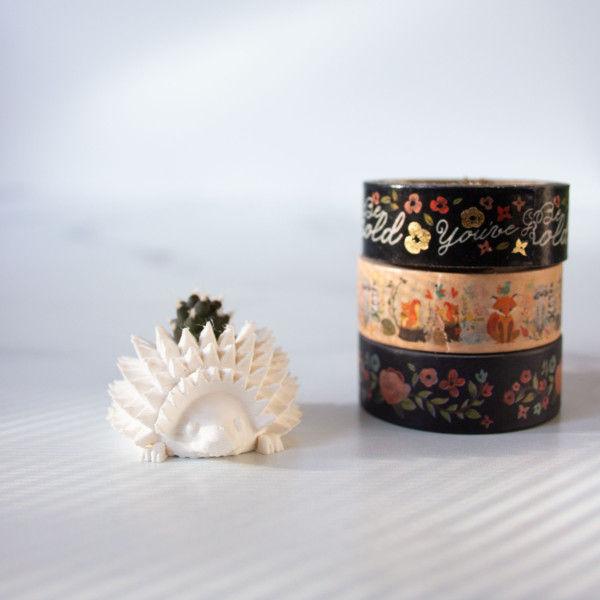 BULK WHOLESALE - Set of 5 Mini Hedgehog Planters for Succulent or Cactus Cuttings, Mini Hedgehog Pots for Plant Boutiques