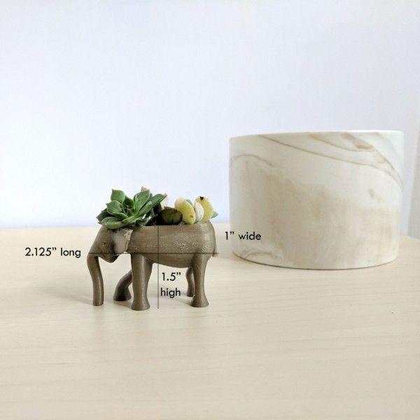Tiny Elephant Animal Planter for Mini Succulents, Cute Animal Pot, Mini Animal Planter, Small Planter, Mini Succulent Planter