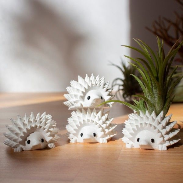 Single Mini Hedgehog Planter, Mini Hedgehog Pot, Tiny Succulent Planter, Tiny Hedgehog Air Planter