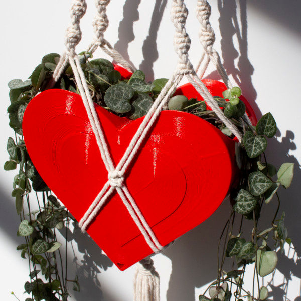 Hanging Heart Planter, Heart Sconce, Valentines Day Planter, V-Day Pot, Heart-shaped Pot - PLANTER ONLY, String/Macrame NOT included