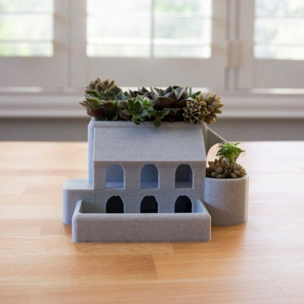 Roman Garden Villa as a Succulent Planter Mother's Day Gift, Father's Day Gift, Geometric Planter, Cactus Planter, Architecture Planter
