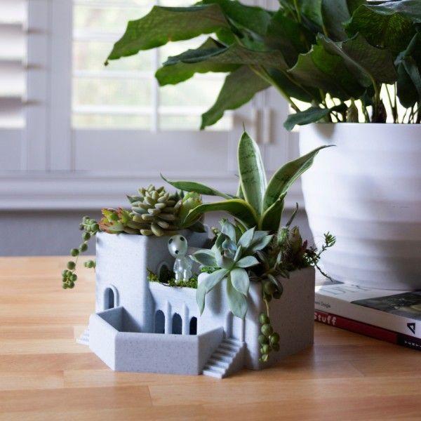 Roman Terrace Garden Succulent Planter, Indoor Garden Tiered Pot for Cactus