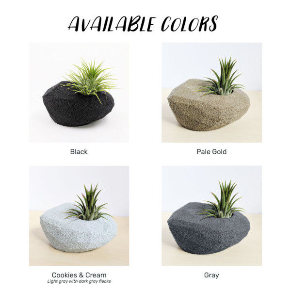 Zen Garden Air Planter Rock for Fathers Day Gift with Personalized Message, Special Air Plant Holder as a Gift for Dad, Thinking of You Gift