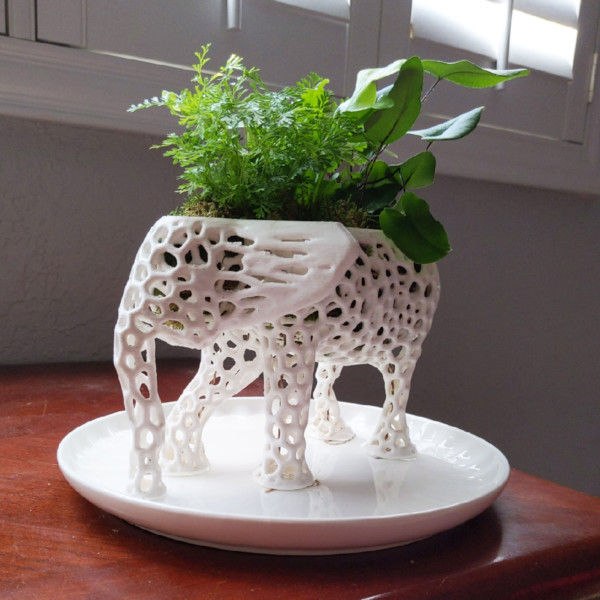 Large Elephant Planter Kokedama, Elephant Statue, Succulent Planter, Self-Watering Planter, Terrarium Planter