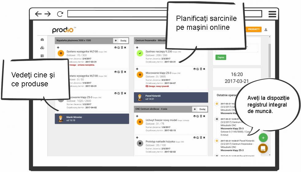Planowanie produkcji - plan produkcji MES Prodio