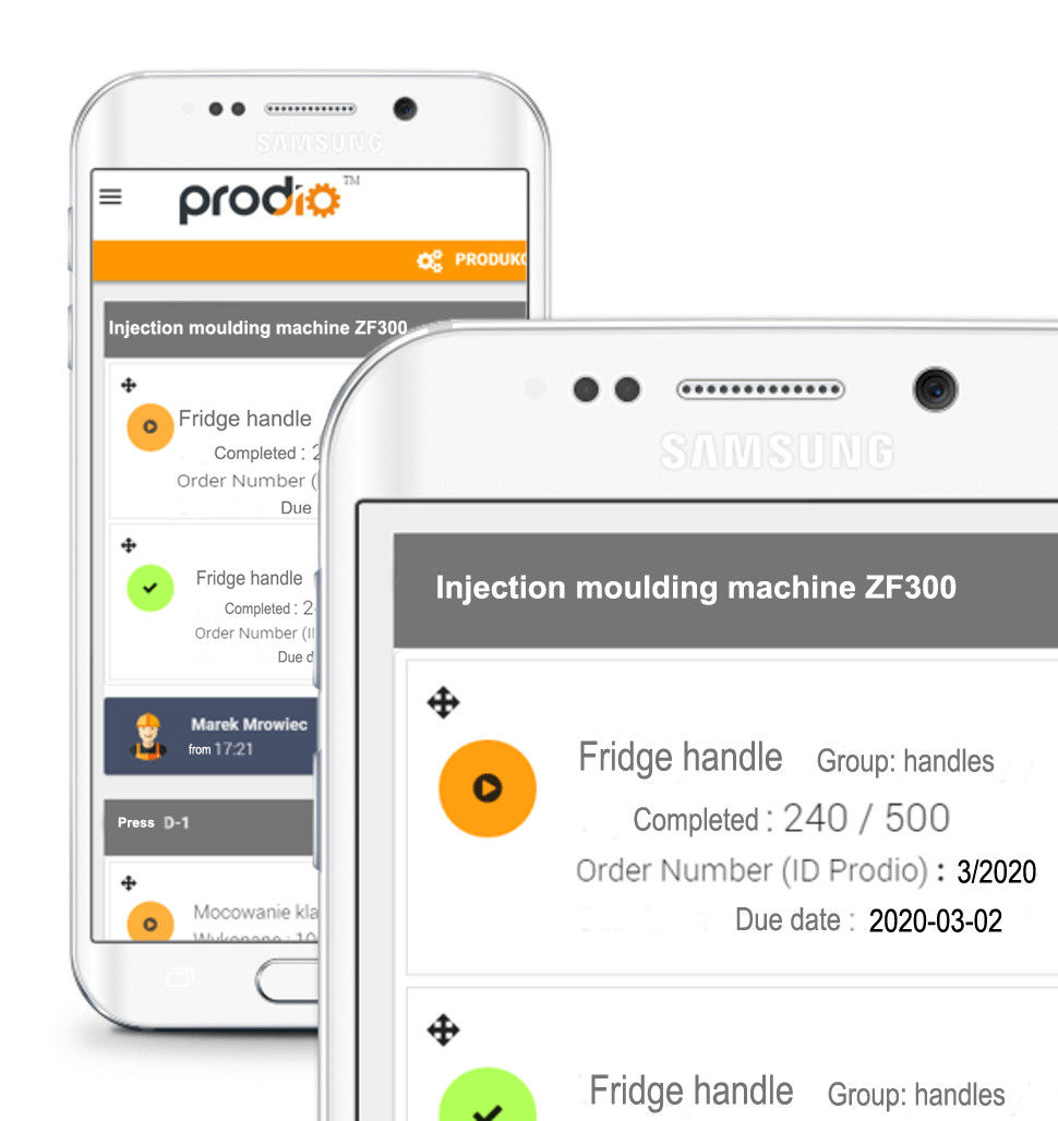 Dostęp mobilny do programu produkcyjengo