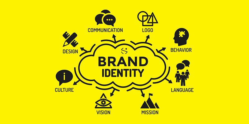 Company's logo and identity