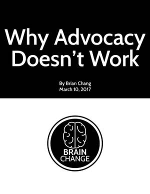 READING | Why Advocacy Doesn't Work