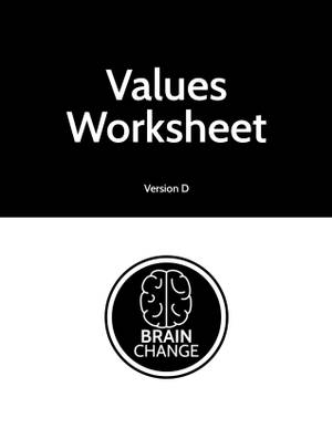 WORKSHEET | Backpack - Values