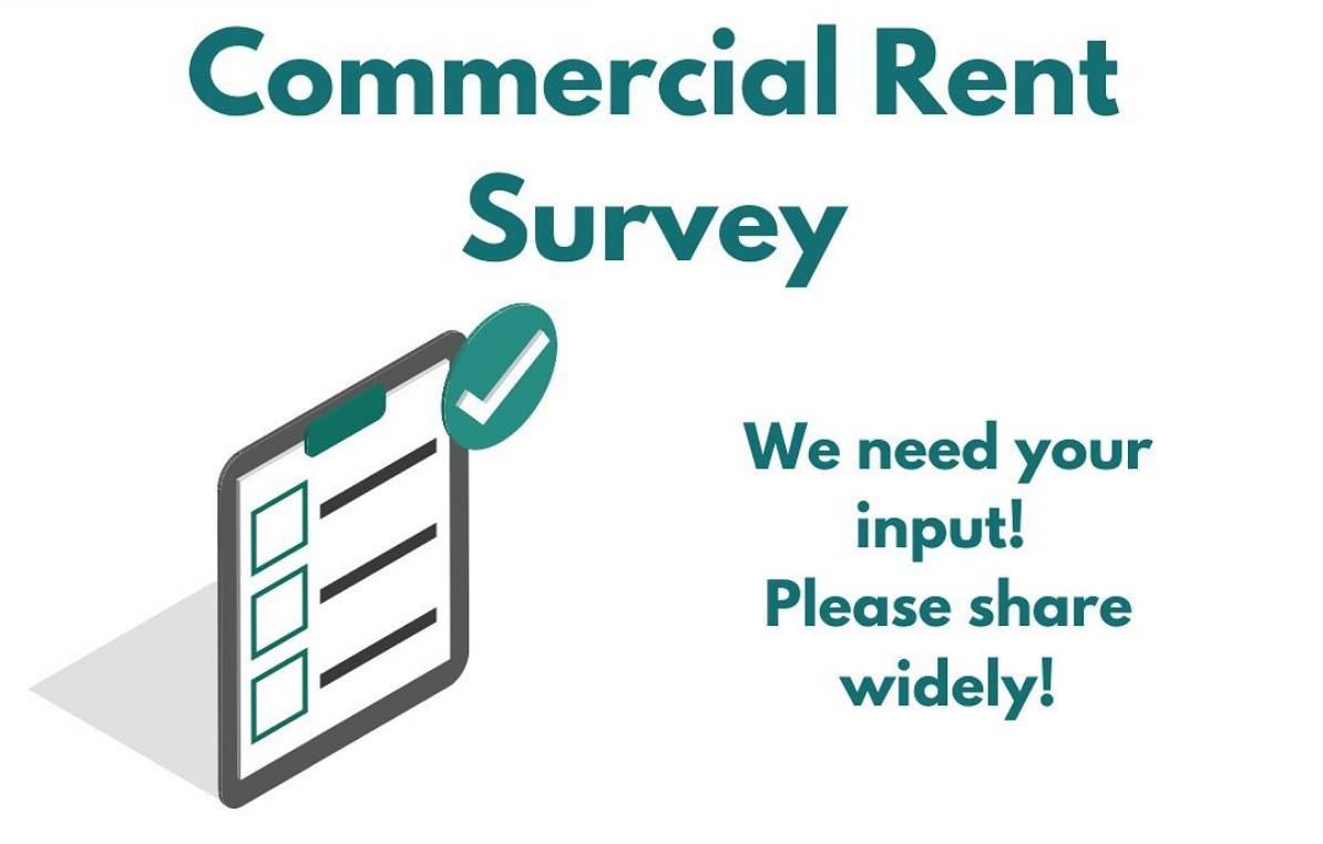 Graphic inviting business owners to complete survey