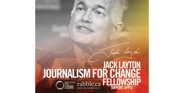 Launching the search for the 2021 Jack Layton fellow