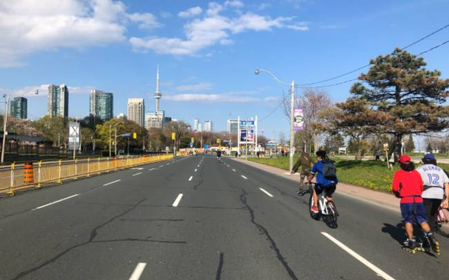 Toronto cyclists are taking advantage of the ActiveTO initiative