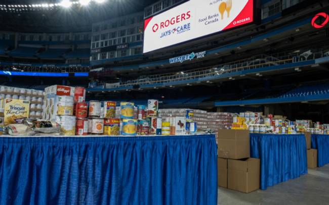 Rogers Centre to be used as temporary facility to help Food Banks Canada