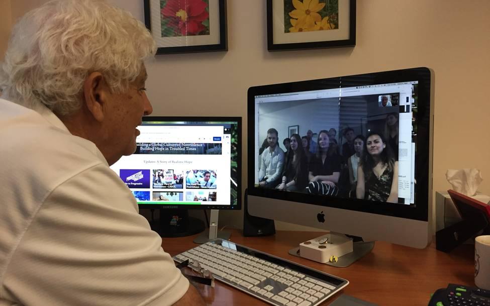 Mubarak Awad welcomes new NVI Interns