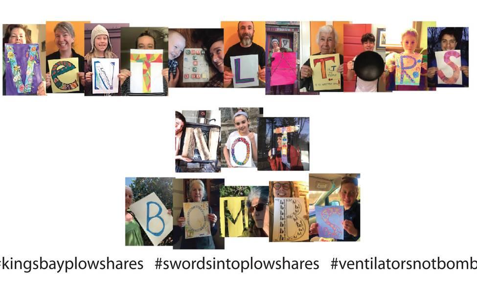 Plowshares Activists Declare We need Ventilators Not Bombs