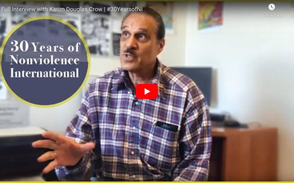 Celebrating 30 Years of Nonviolence International - Karim Crow
