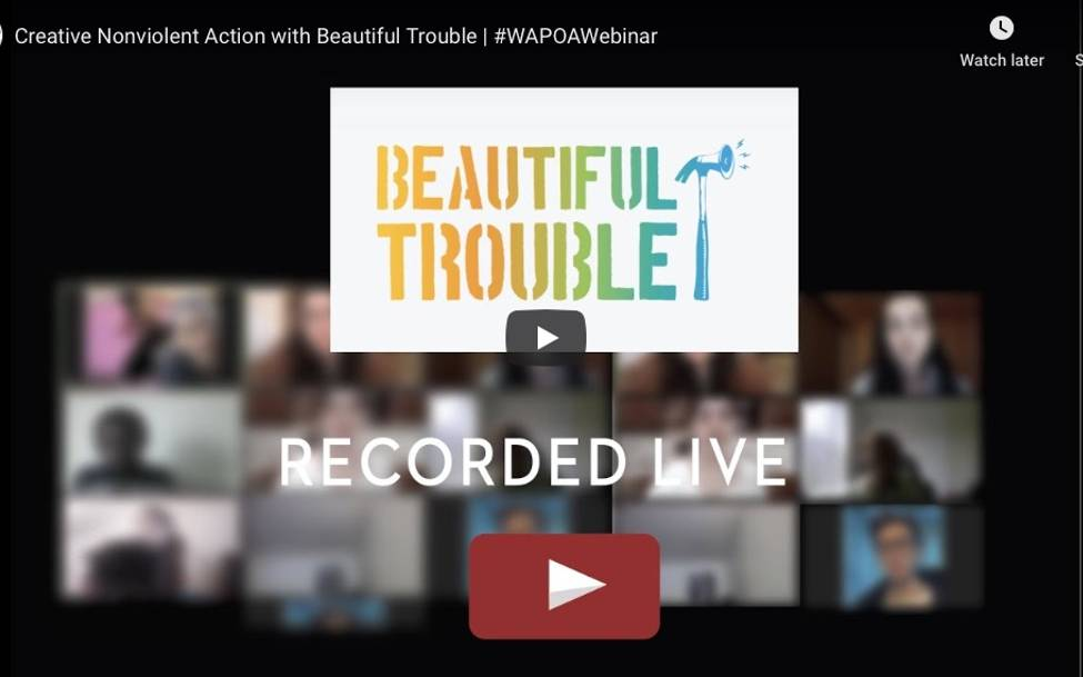 Beautiful Trouble Creative Nonviolence in a Time of Crisis - Webinar