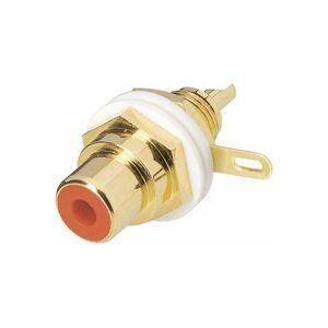BKL Electronic 0101144-C Cinch-Steckverbinder Buchse, Einbau vertikal Polzahl: 2 Rot