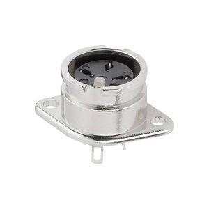 BKL Electronic 0202016 DIN-Rundsteckverbinder Flanschbuchse, Kontakte gerade Polzahl: 4 Silber 1St.