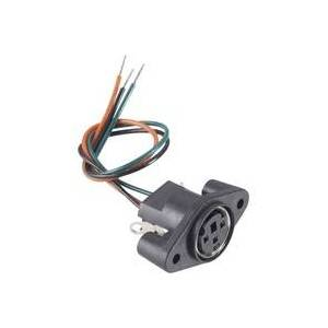 BKL Electronic 0204025 Miniatur-DIN-Rundsteckverbinder Buchse, Einbau vertikal Polzahl: 4 Schwarz 1S