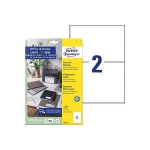 Avery Zweckform 3655-10 Etiketten 210 x 148mm Papier Weiß 20 St. Permanent Universal-Etiketten Tint