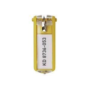 Durable Schlüsselanhänger 195704 KEY CLIP - 1957 Gelb 6St.