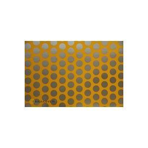 Oracover 92-030-091-010 Plotterfolie Easyplot Fun 1 (L x B) 10m x 20cm Cub-Gelb, Silber