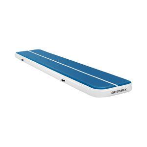 Gymrex Aufblasbare Turnmatte - Airtrack - 500 x 100 x 20 cm - 250 kg - blau/weiß 10230110