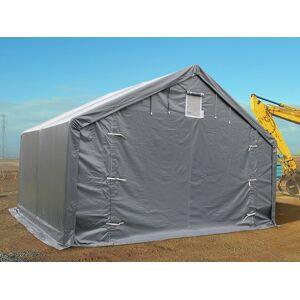 Dancover Lagerzelt Zeltgarage Garagenzelt PRO 4x4x2x3,1m, PVC, Grau