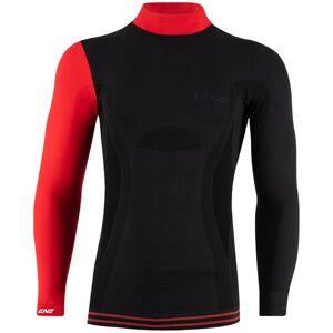 Lenz 6.0 Merino Turtle Neck Langarm Shirt Schwarz Rot XL