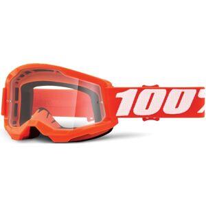 100% Strata II Motocross Brille Weiss Orange Einheitsgröße