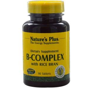 Nature& 39;s Plus B-Complex with Rice Bran (90 Tablets) - Nature& 39;s Plus