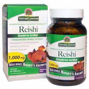 Natures Answer Reishi, Standardized Herbal Extract, 1000 mg (60 Veggie Caps) - Nature& 39;s Answer