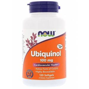 Now Foods Ubiquinol 100 mg (120 softgels) - Now Foods