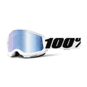 100% Crossbrille 100% Strata 2 Everest Weiß-Schwarz