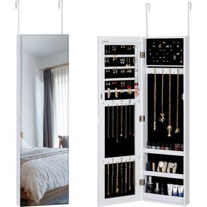 CASARIA Armario para joyas con espejo modelos con o sin luces LED 31,5 x 9 x