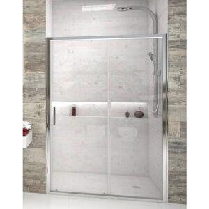BETTERBAN Mampara de ducha frontal de 1 hoja fija y 1 puerta corredera - Cristal