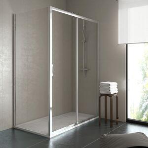 THERMIKET Mampara de ducha rectangular 2 fijos+1 puerta 78-80x98-100 newcarglass