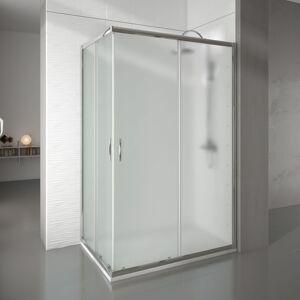 THERMIKET Mampara de ducha rectangular 2 fijos+2 puertas 88-90x108-100 newcarglass