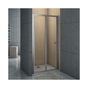 Aica Mamparas Puerta Abatible Pantalla de Ducha 6mm cristal para 100x185cm