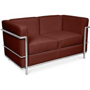 PRIVATEFLOOR Sofá de Diseño Kart2 - 2 asientos - Cuero Premium Chocolate
