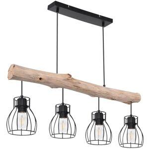 GLOBO Lámpara colgante de techo de diseño Vigas de madera Punto de péndulo