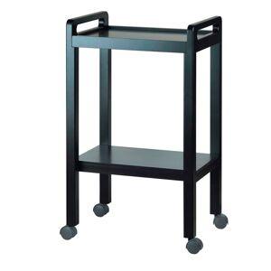 Carrito de Resina Basic: Equipado con dos estantes y asas laterales