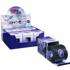 Cure Tape 5 cm x 5 mts Color Negro