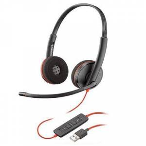 Plantronics Blackwire C3220 USB-A Stereo Corded Headset (209745-101) work from home headset