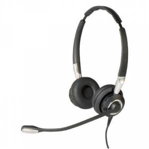 Jabra BIZ 2400 II Duo CC Noise Cancelling USB Headset With Multiple Devices Connectivity And Noise-Canceling Microphone