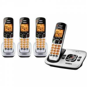 Uniden D1780 4 Handset Cordless Phone With DECT 6.0 Technology And Expandable Up To 12 Handsets