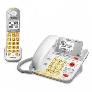 Uniden D3098 1 Handset Amplified Corded / Cordless Phone With DECT 6.0 Technology
