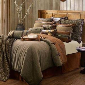 Hiend Accents Highland Lodge Comforter Bed Set Sage, Twin, Sage